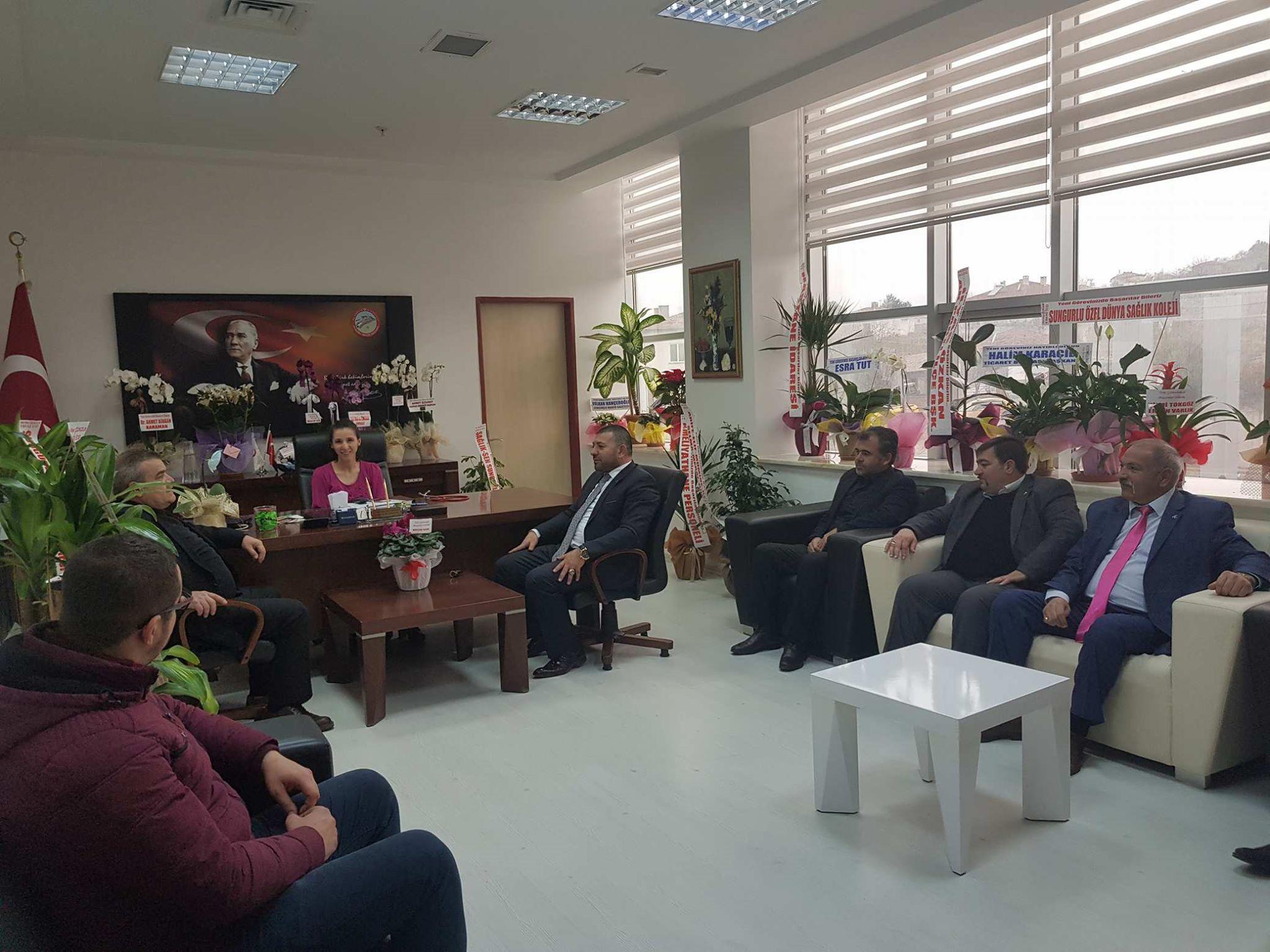 MHP'den Hastane Yönetimine Ziyaret » hastane, mhp, yönetim, ziyaret