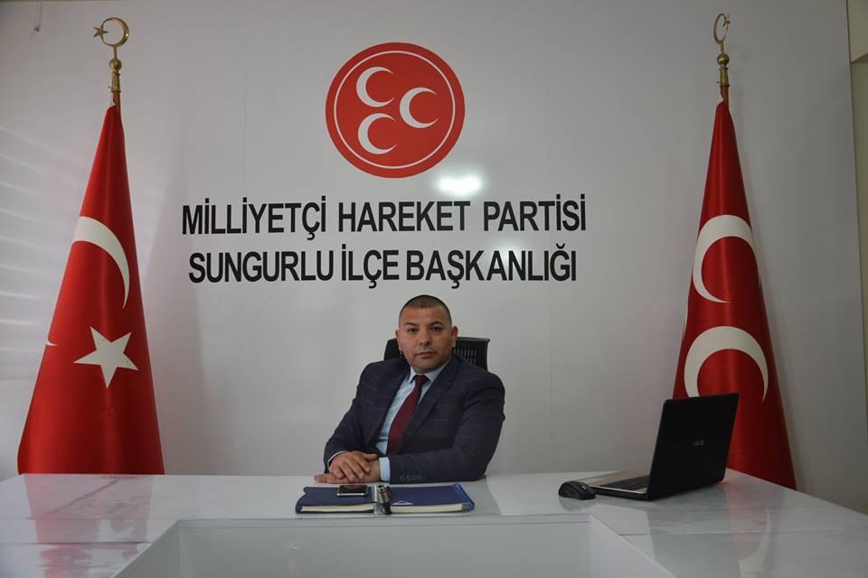 MHP Sungurlu İlçe Başkanı Yasin Şahin Yarıyıl tatili nedeniyle bir mesaj yayınladı. | Sungurlu Haber