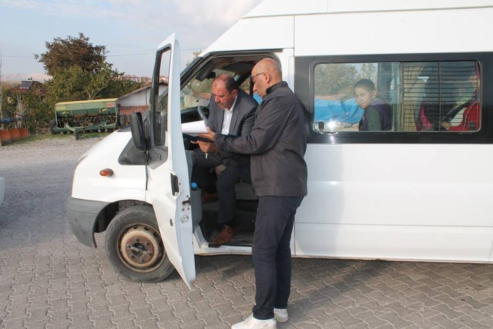 Sungurlu'da Taşımalı Servis Araçları Denetlendi | Sungurlu Haber