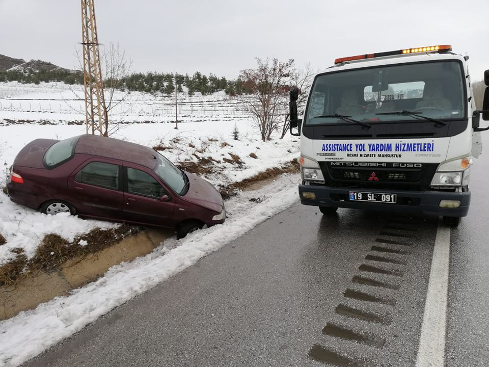 Çorum yolunda meydana gelen iki ayrı kazada ölen yada yaralanan olamazken, araçlarda maddi hasar meydana geldi.   Sungurlu Haber