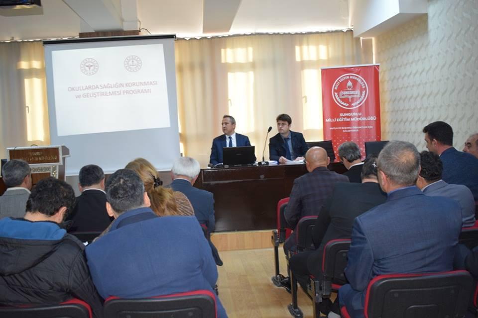 Okul Sağlığı Bilgilendirme Toplantısı Yapıldı | Sungurlu Haber