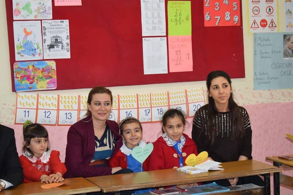 İlçe Milli Eğitim Müdürlüğünün ''Doğum Günümü Okulda Kutluyoruz'' projesi kapsamında, Beşkız Köyü İlkokulunda Doğum günü kutlamasına İlçe Milli Eğitim Müdürü Mustafa Eryiğit, Şube Müdürü Neşe Akalın katıldı. | Sungurlu Haber