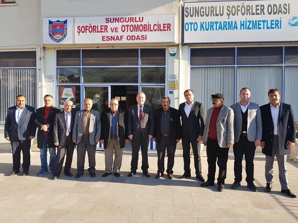 Sungurlu Belediye Başkanı ve İYİ Parti Belediye Başkan Adayı Abdulkadir Şahiner, seçim çalışmaları kapsamında oda başkanlarını ziyaret etti. | Sungurlu Haber