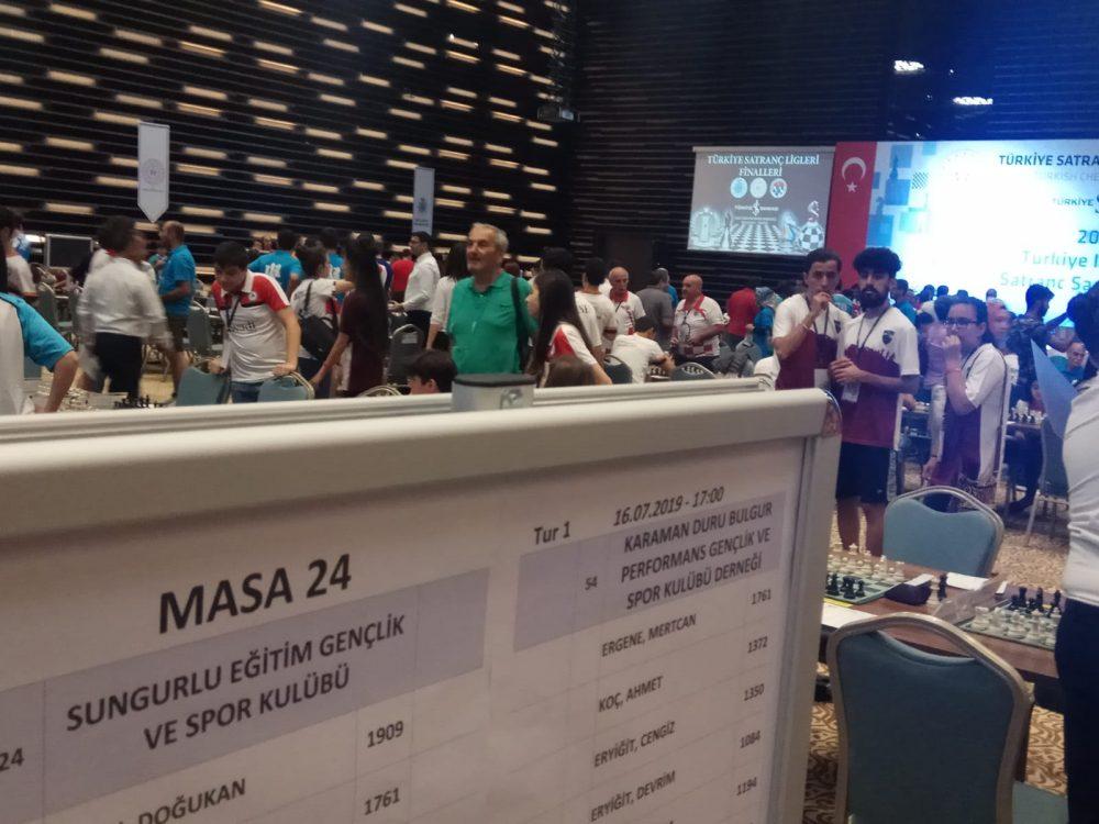 Sungurlu Eğitimspor Satranç Takımı 15-21 Temmuz tarihlerinde Konya'da başlayan ve halen devam eden Türkiye Finallerinde ilçemizi temsil ediyor. | Sungurlu Haber
