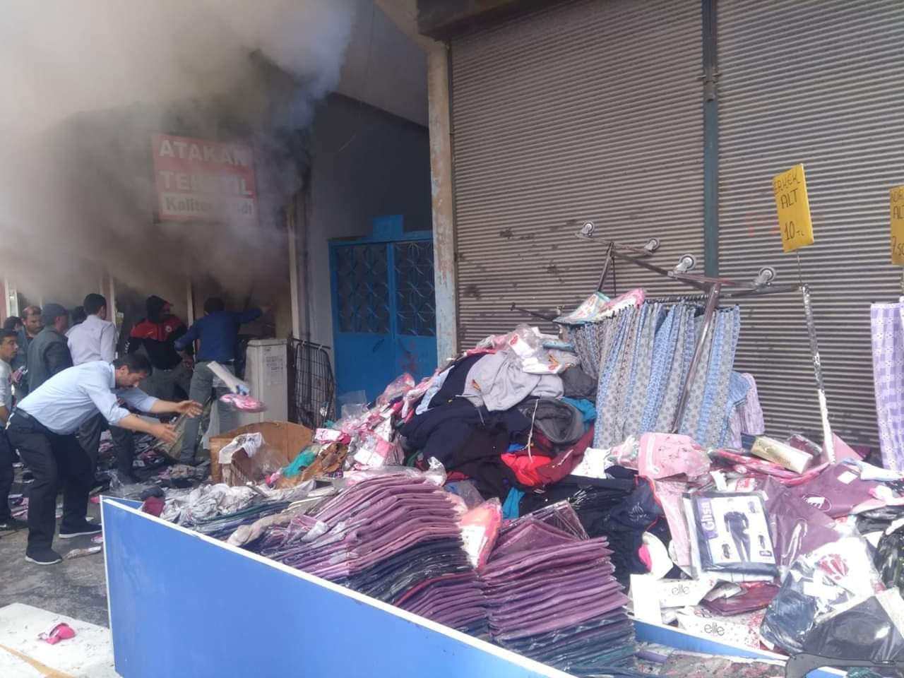 Tekstil Mağazası Alev Alev Yandı » Sungurlu Haber