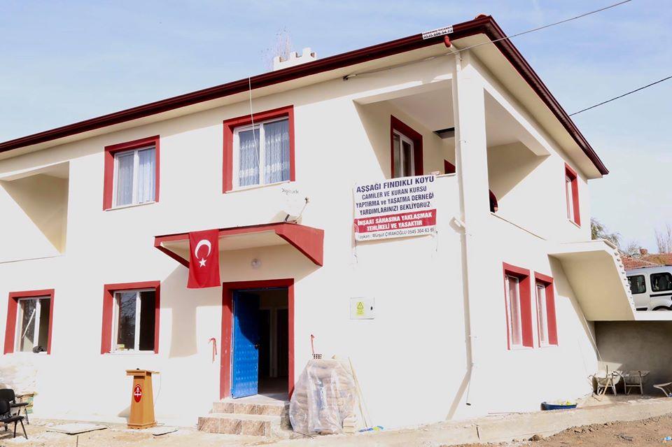 Aşağıfındıklı Köyü Camiler ve Kuran Kursu Yaptırma ve Yaşatma Derneği tarafından yapılan Kur'an Kursu ve İmam evi dualarla hizmete açıldı. | Sungurlu Haber