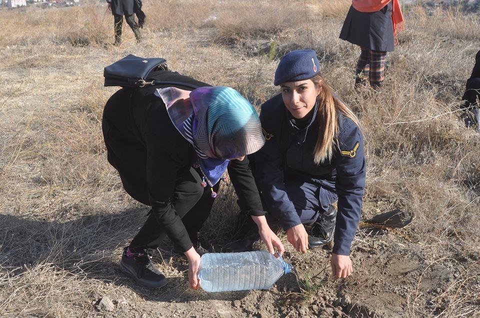 '11 Milyon Ağaç, Bugün Fidan Yarın Nefes' kampanyası kapsamında 81 ilde olduğu gibi Sungurlu'da da fidanlar toprakla buluşturuldu. | Sungurlu Haber