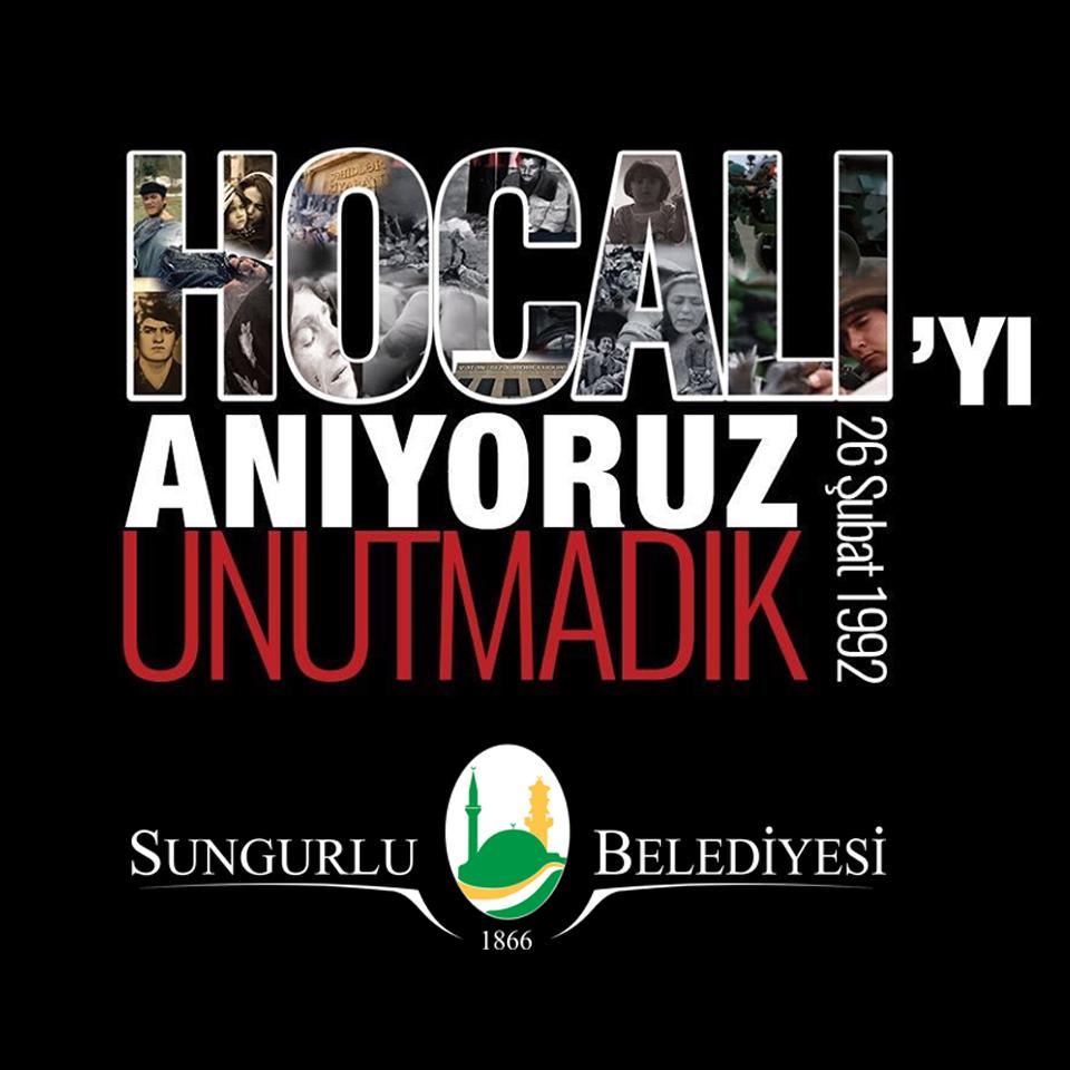 Sungurlu Belediye Başkanı Abdulkadir Şahiner, Hocalı Katliamının 28'nci yıl dönümü dolayısıyla bir mesaj yayımladı. | Sungurlu Haber