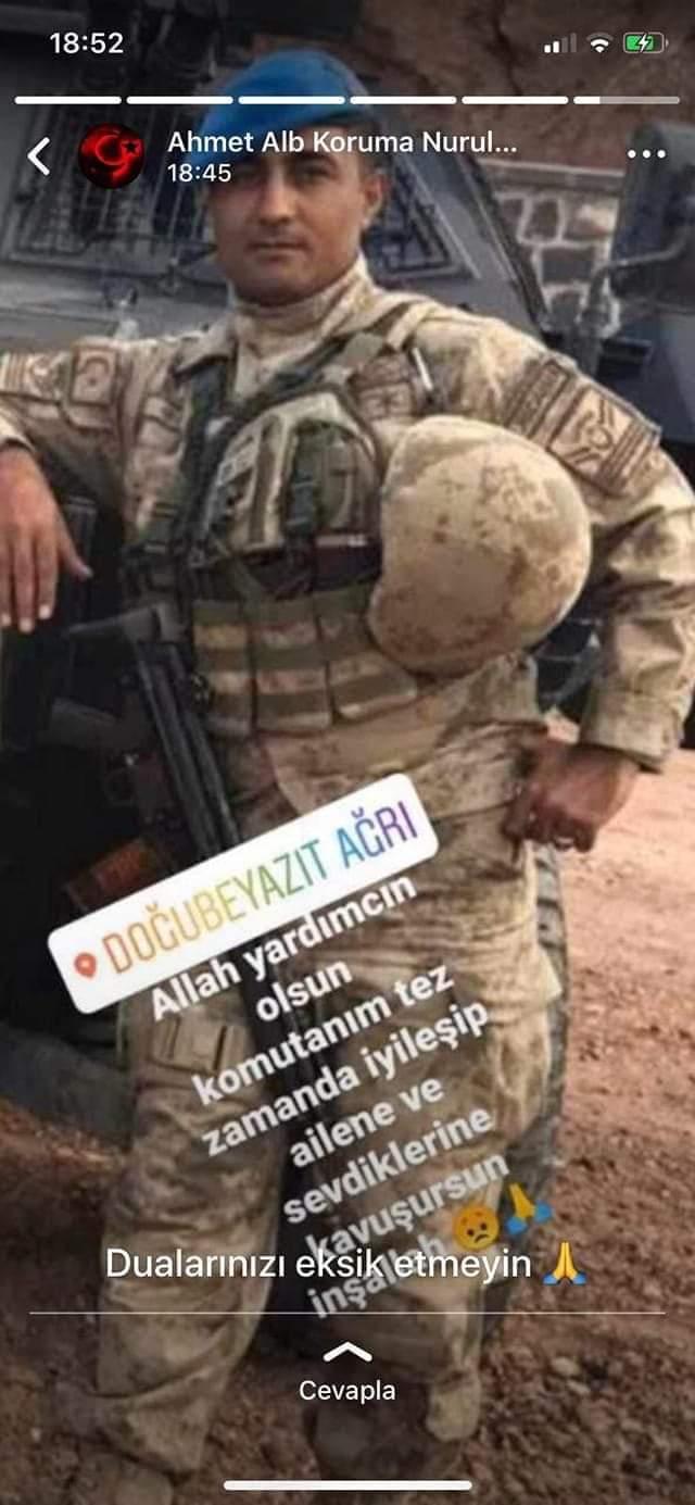 Ağrı'nın Doğubayazıt ilçesinde Gürbulak Gümrük Müdürlüğü'ne ait araca roketli saldırıda ağır yaralanan hemşehrimiz Jandarma Uzman Çavuş Ferhat Karaç'ın durumunun iyiye gittiği öğrenildi. | Sungurlu Haber