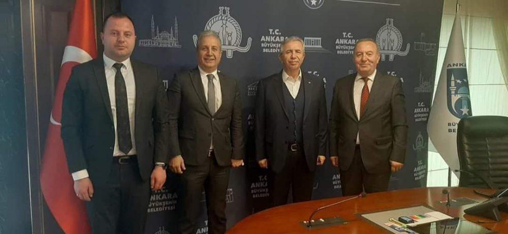 Sungurlu Belediye Başkanı Abdulkadir Şahiner, Ankara Büyükşehir Belediye Başkanı Mansur Yavaş'ı ziyaret ederek, Sungurlu halkının taleplerini iletti. | Sungurlu Haber