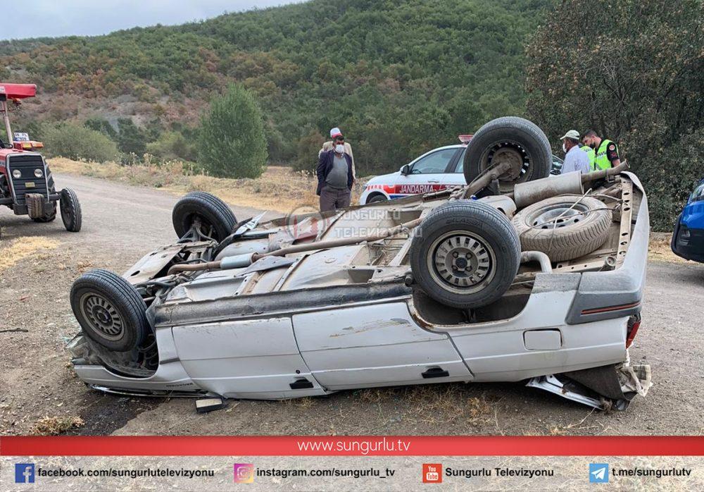 Sungurlu'da meydana gelen trafik kazasında 1 kişi hayatını kaybederken, 1 kişi de yaralandı.