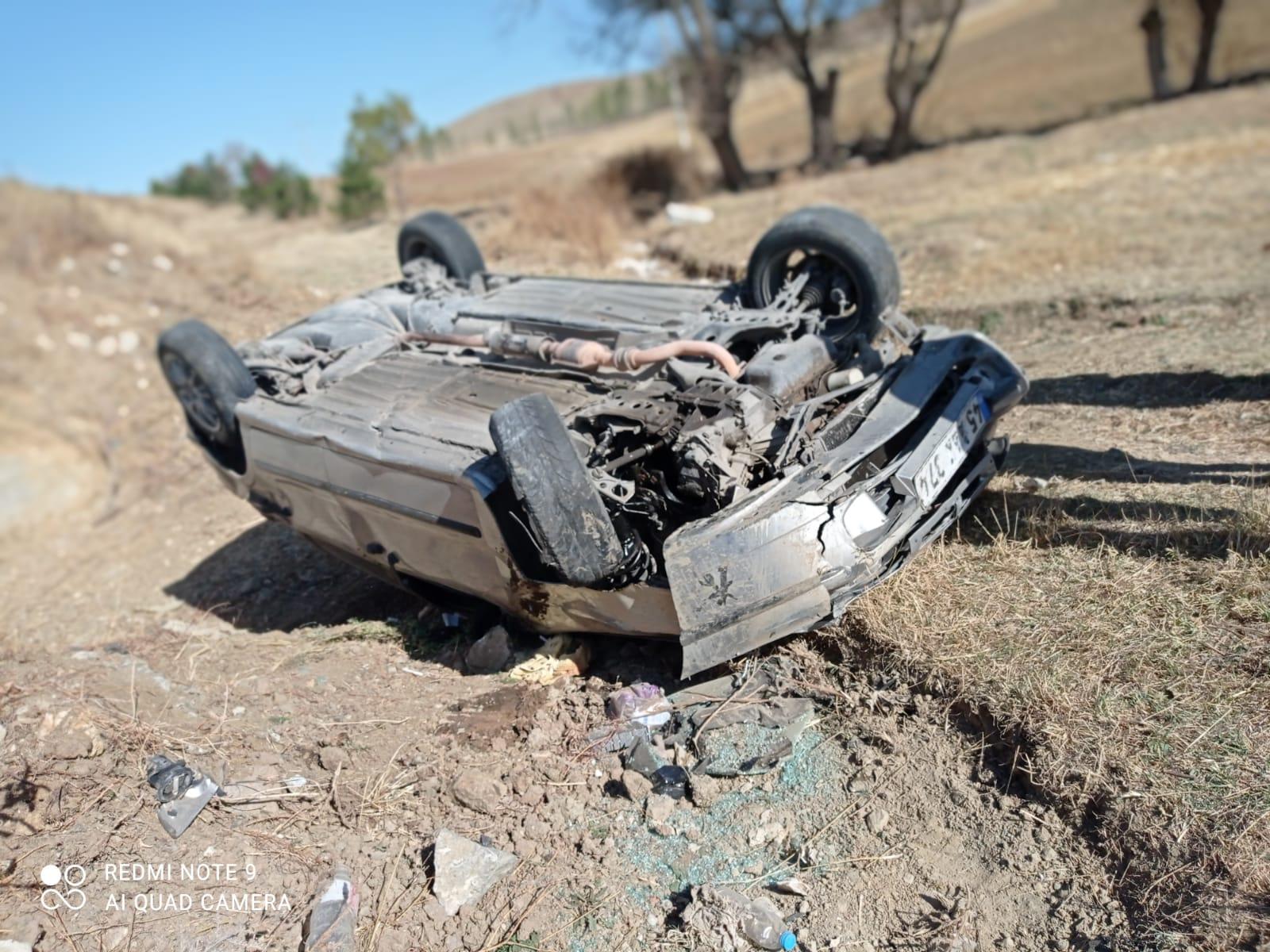 sungurlu kaza yaralı takla