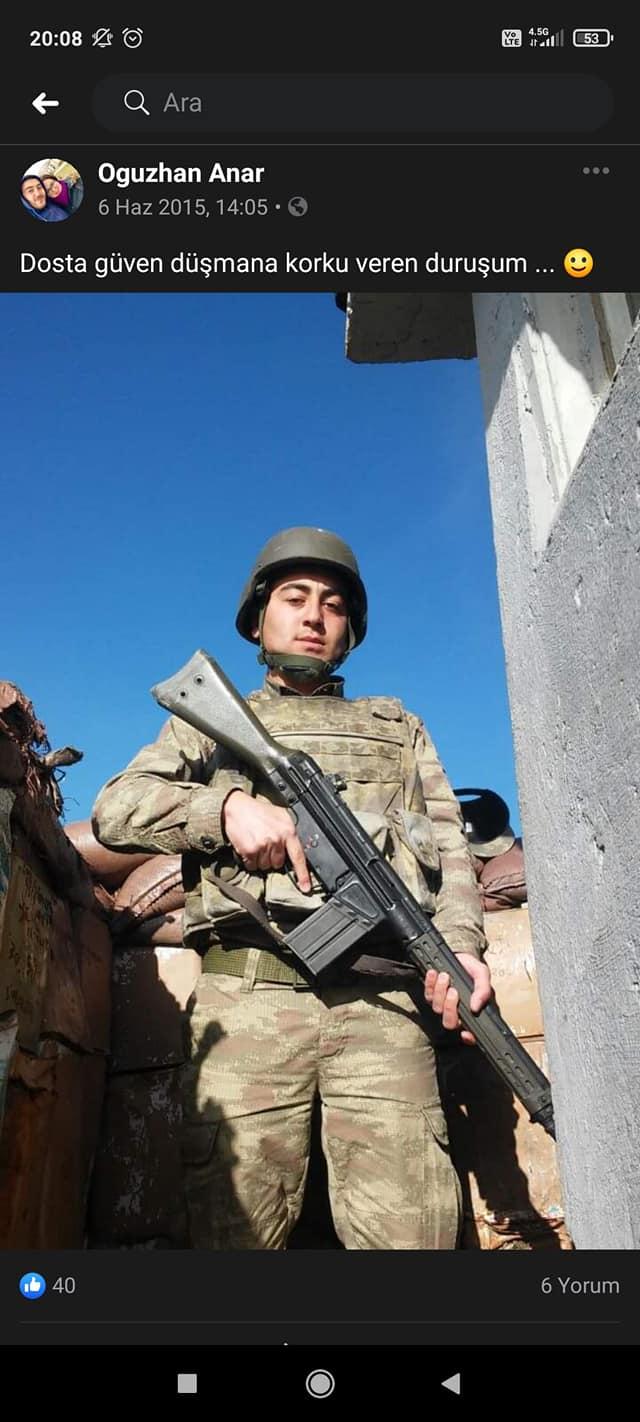 Jandarma Uzman Çavuş Oğuhzan Anar