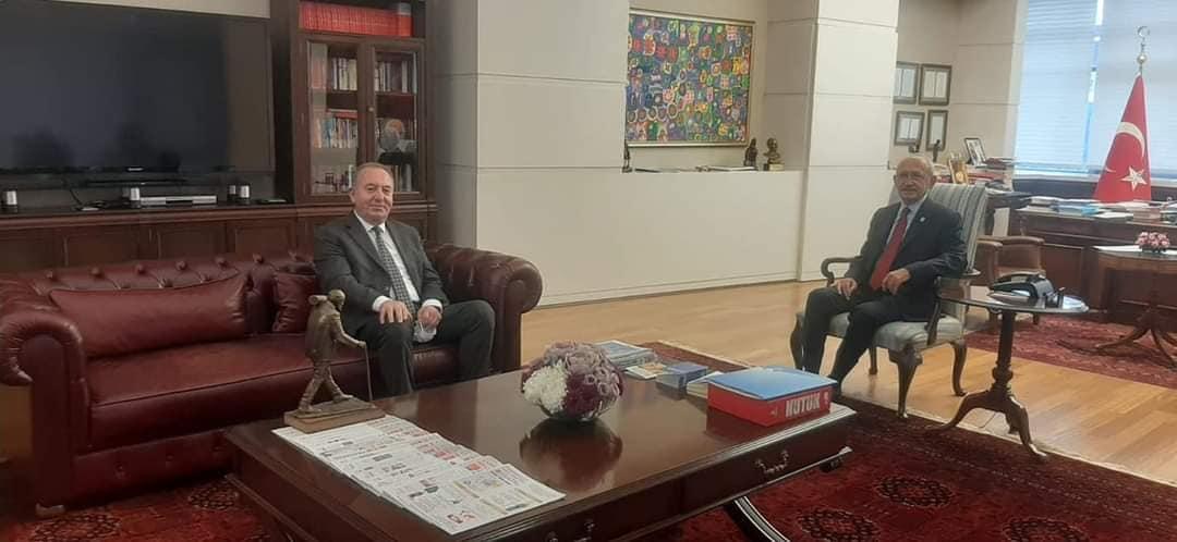 Sungurlu Belediye Başkanı Abdülkadir Şahiner, CHP Genel Başkanı Kemal Kılıçdaroğlu'nu ziyaret etti.