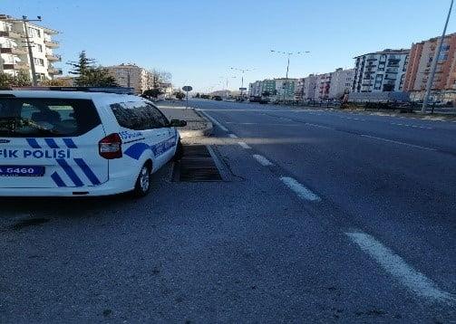 Sungurlu'da meydana gelen kazaları önlemek için radar hız kontrolü denetimi başlatıldı.