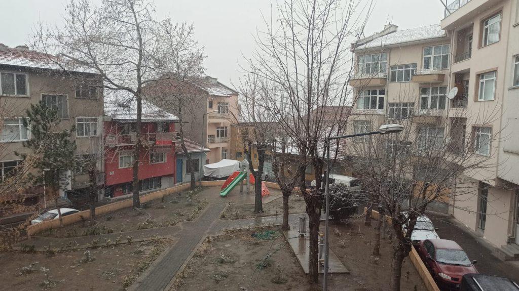 sungurlu kar yağışı pınar hanım parkı