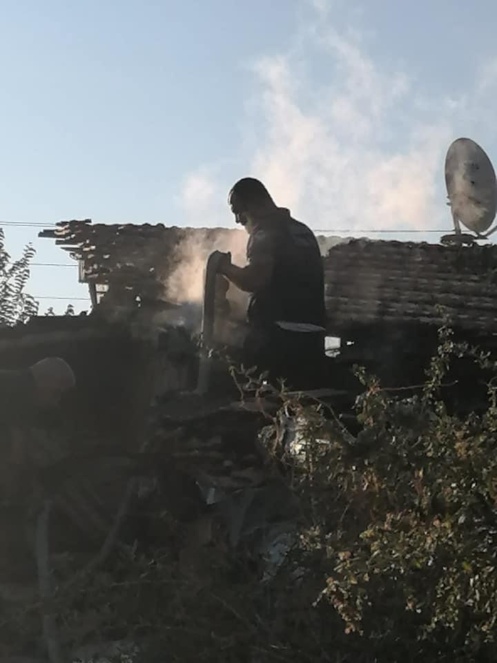 Sungurlu'da meydana gelen yangında tandırlık kül oldu.   Sungurlu Haber