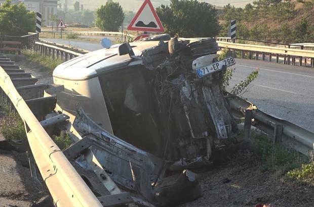 Sungurlu'da kontrolden çıkan kamyonetin takla attığı kazada 1 kişi yaralandı. | Sungurlu Haber