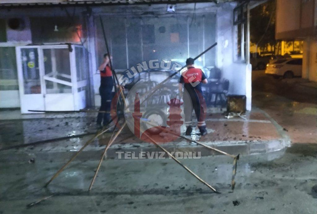 Sungurlu'da kahvehanede kundaklama sonucu çıkan yangın hasara yol açtı. | Sungurlu Haber